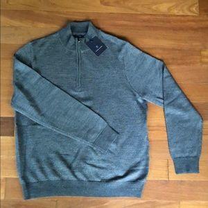 Quarter zipper wool blend pullover